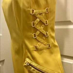 Brand new Cache Yellow Dress. Never Worn With Tags